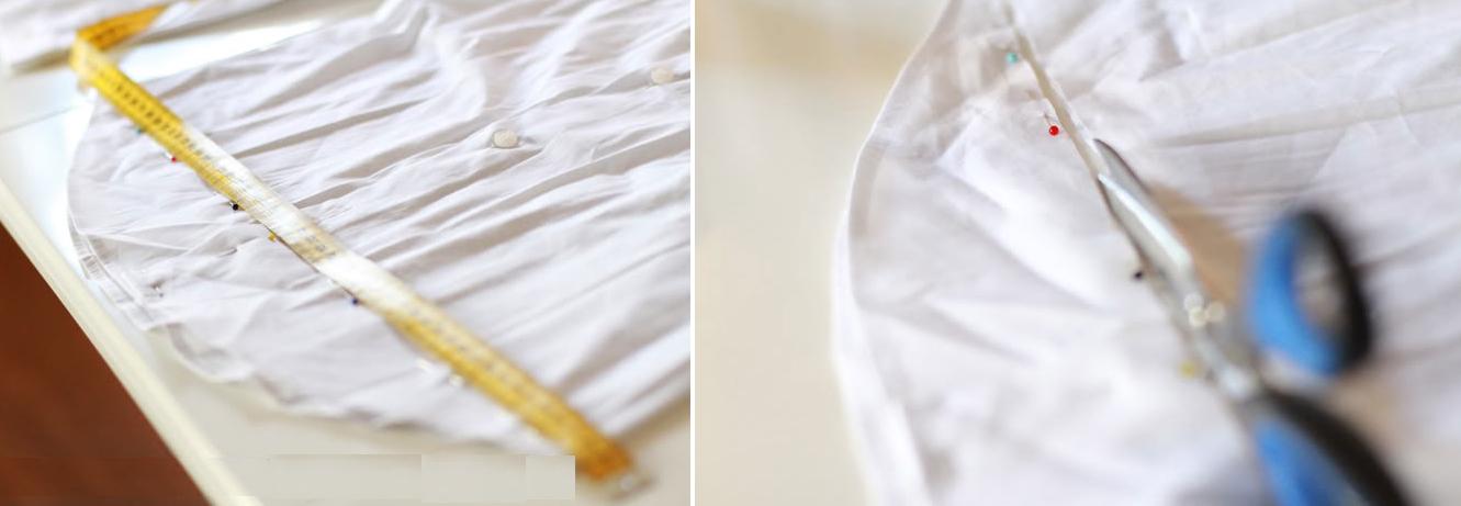 Como transformar una camisa en vestido dos tonos fácilmente3