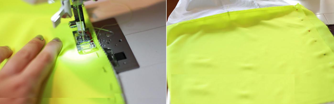 Como transformar una camisa en vestido dos tonos fácilmente5