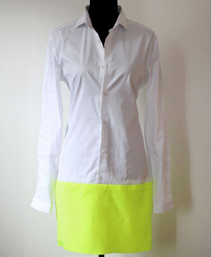Como transformar una camisa en vestido dos tonos fácilmente6