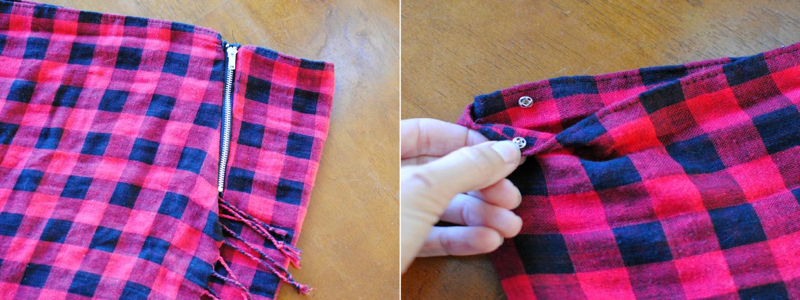 Como transformar una manta en una falda bufanda en 3 simples pasos42