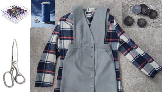 Como transformar viejas chaquetas en jumpers pasó a paso2