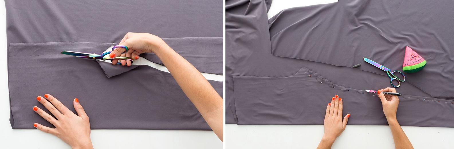 Como hacer leggins pretina ancha en simples pasos4