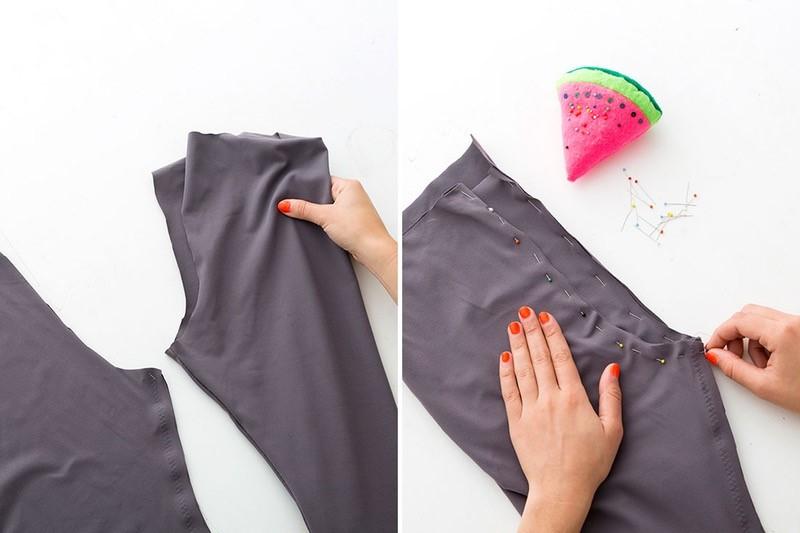 Como hacer leggins pretina ancha en simples pasos6