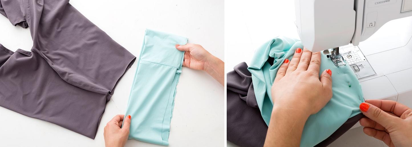 Como hacer leggins pretina ancha en simples pasos9