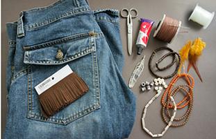 Como hacer minibolsos bohemios con viejos jeans2