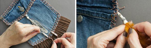 Como hacer minibolsos bohemios con viejos jeans6