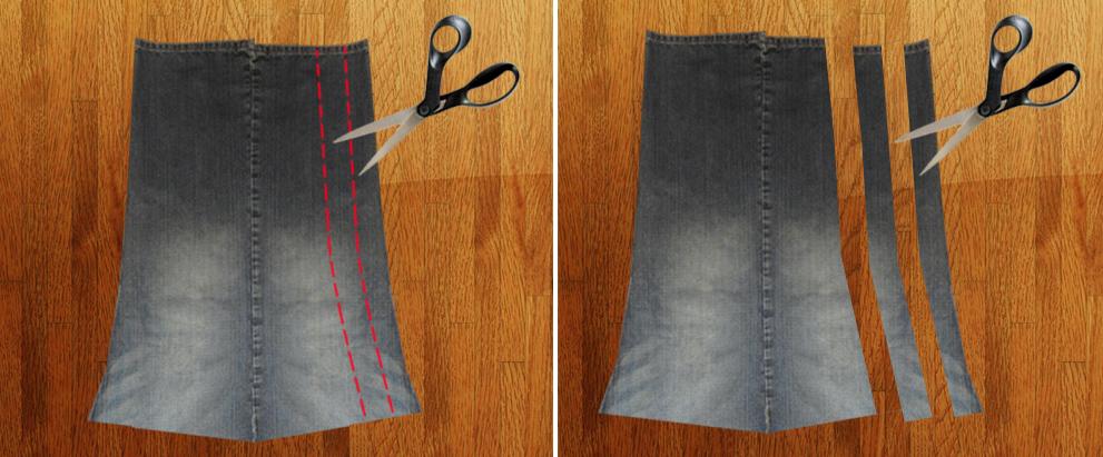 Como hacer un overol de short con unos jeans viejos pasó a paso10