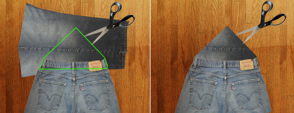 Como hacer un overol de short con unos jeans viejos pasó a paso11