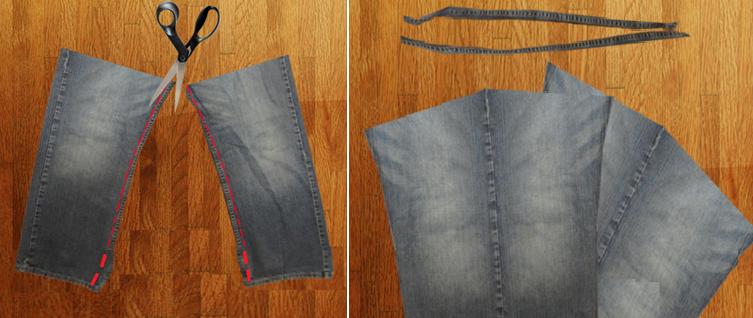Como hacer un overol de short con unos jeans viejos pasó a paso4