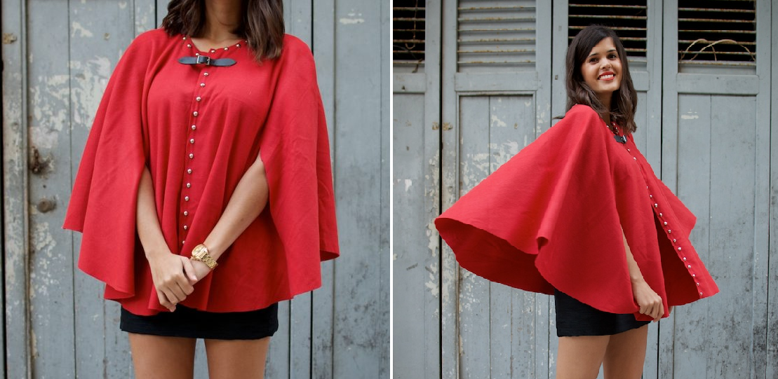 Como hacer una chaqueta modelo capa sin costuras1