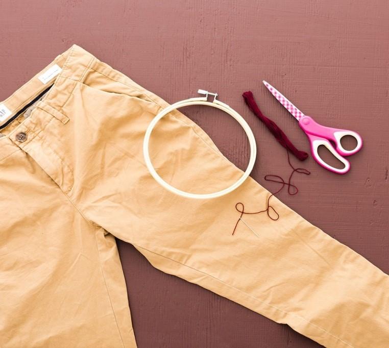 Como personalizar pantalones con bordados sencillos ¡Perfecto para principiantes!2