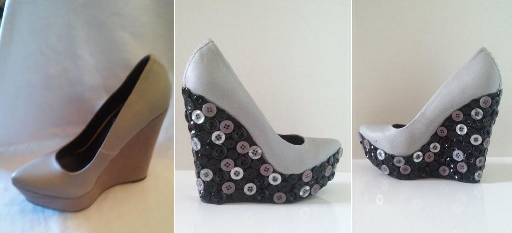 Como renovar las plataforma de zapatos con botones 1