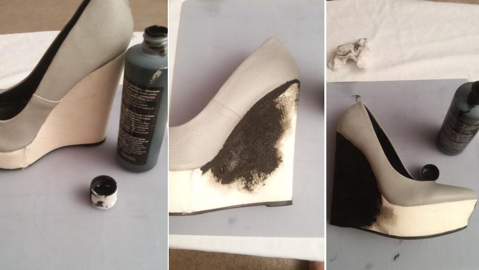 Como renovar las plataforma de zapatos con botones 4