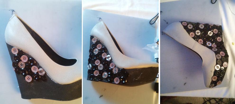 Como renovar las plataforma de zapatos con botones 5