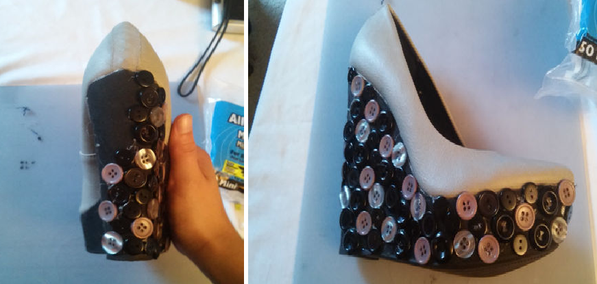 Como renovar las plataforma de zapatos con botones 6
