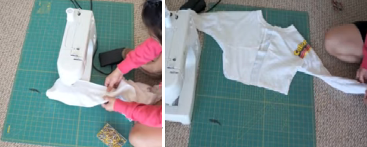 Como transformar camisetas talla grande en chaquetas mangas largas8