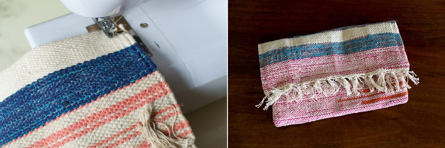 Como transformar un tapete en un bolso de mano en menos de 10 minutos4