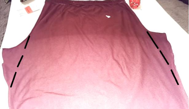 Como transformar una leggins en una falda tubo paso a paso5