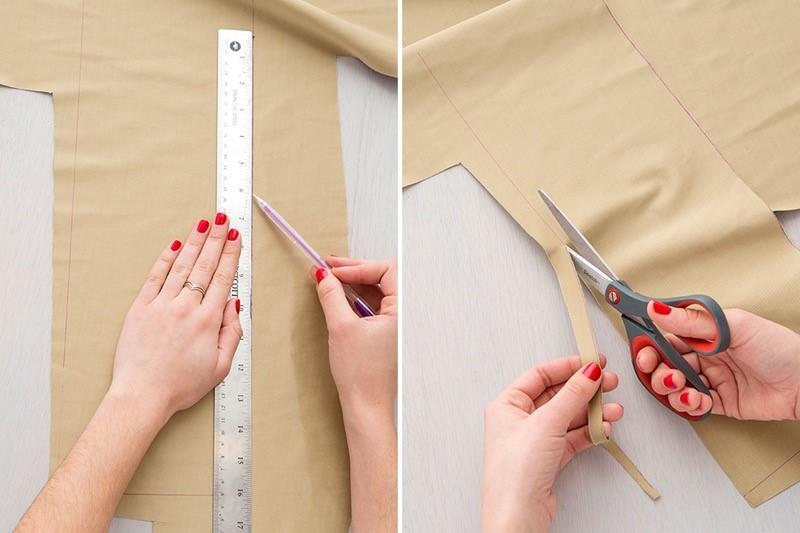 Como hacer bolsos cubo en cuero dos colores paso a paso5