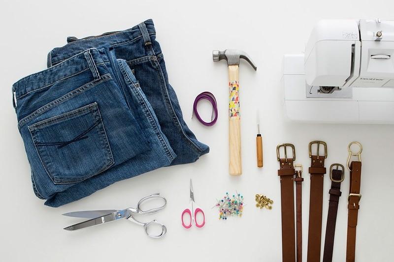 Como hacer bolsos extra grandes con jeans reciclados pasó a paso1