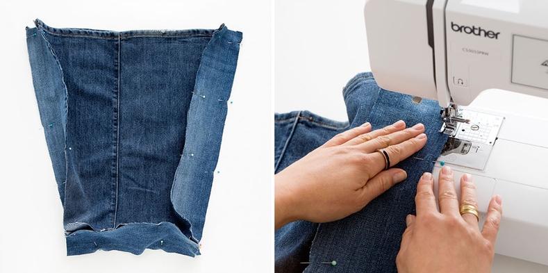 Como hacer bolsos extra grandes con jeans reciclados pasó a paso9