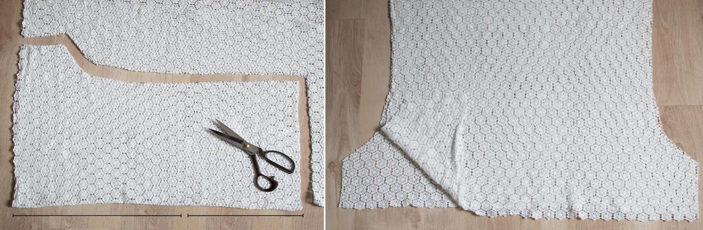 Como hacer un mameluco sin mangas con encaje3