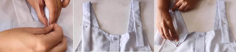 Como hacer un overol con una camisa de hombre12