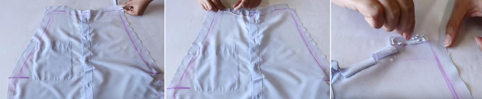 Como hacer un overol con una camisa de hombre8