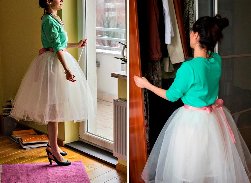 Como hacer una falda de tul ¡Sin máquina de coser!11
