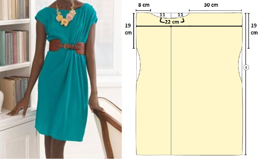 Como hacer vestidos sencillos mangas asimétrica en 3 simples pasos ¡Con patrones!1