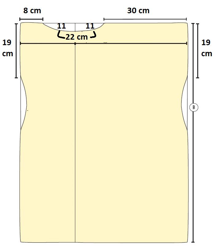 Como hacer vestidos sencillos mangas asimétrica en 3 simples pasos ¡Con patrones!2