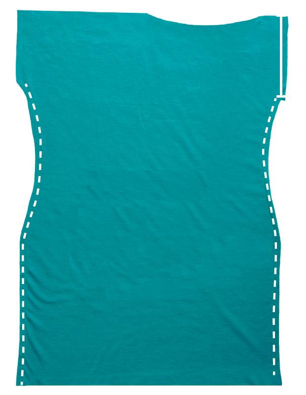 Como hacer vestidos sencillos mangas asimétrica en 3 simples pasos ¡Con patrones!3