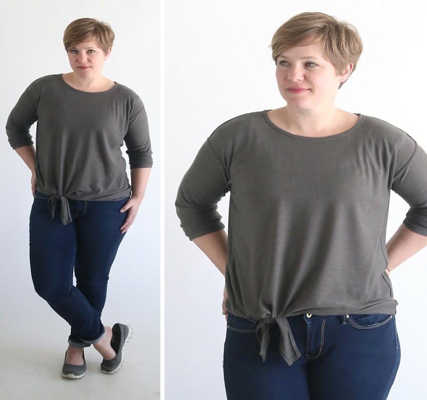 Como renovar camisetas largas con molde para enlazar7