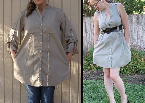 Como transformar blusones calurosos en coquetos vestidos de verano1