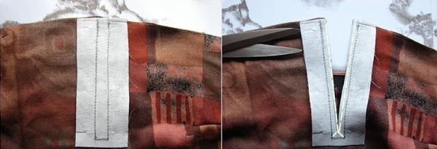 Como hacer crop tops con faldas recicladas6