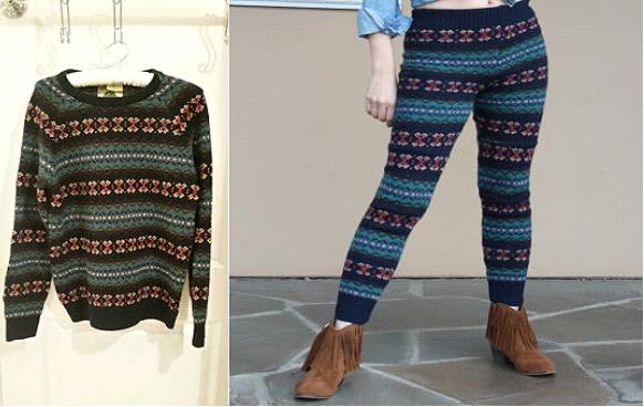 Como hacer leggins con sueters reciclados en simples pasos1