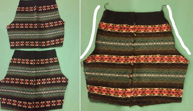 Como hacer leggins con sueters reciclados en simples pasos5