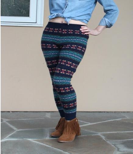 Como hacer leggins con sueters reciclados en simples pasos9