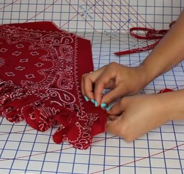 Como hacer tops peplum con pañuelos en simples pasos14