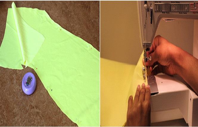 Como hacer vestidos de un solo hombro ajustados en simples pasos ¡Con neopreno!3