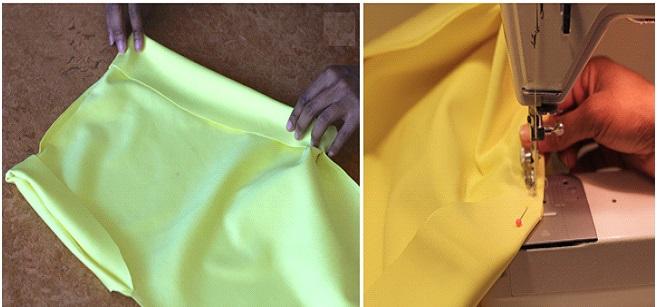 Como hacer vestidos de un solo hombro ajustados en simples pasos ¡Con neopreno!5