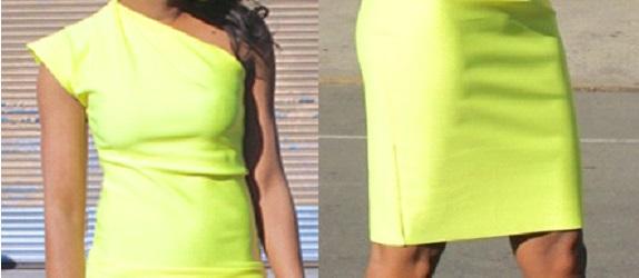 Como hacer vestidos de un solo hombro ajustados en simples pasos ¡Con neopreno!7
