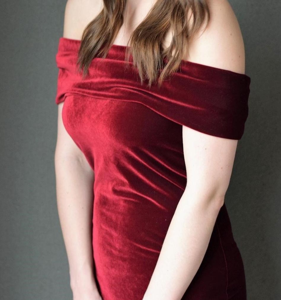 Como hacer vestidos elegantes hombros caidos en simples pasos ¡Moldes sencillos!6