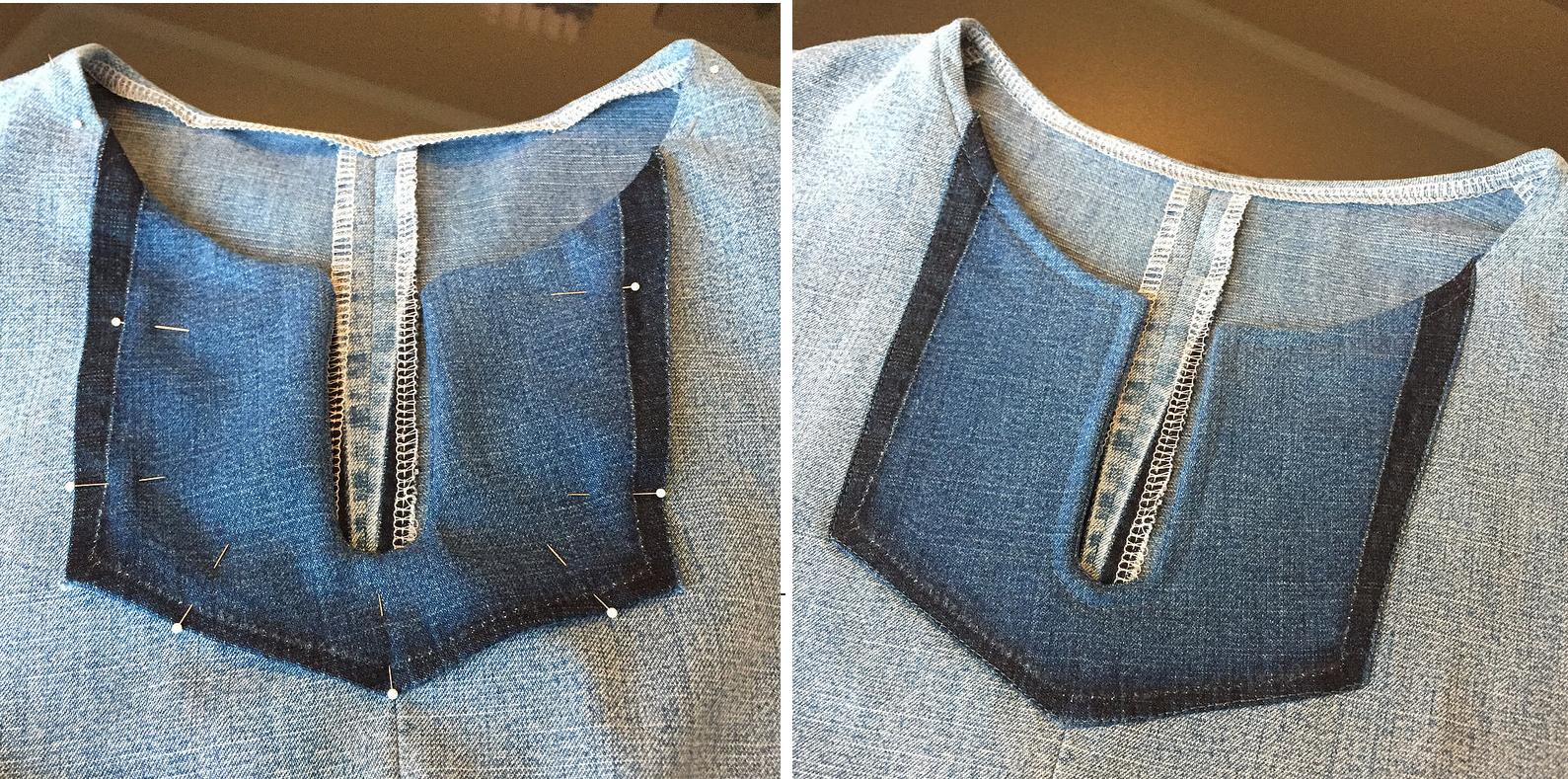 Como hacer blusas modelo túnica con jeans reciclados ¡Perfecta para el verano!10
