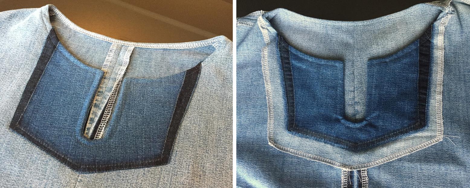 Como hacer blusas modelo túnica con jeans reciclados ¡Perfecta para el verano!11