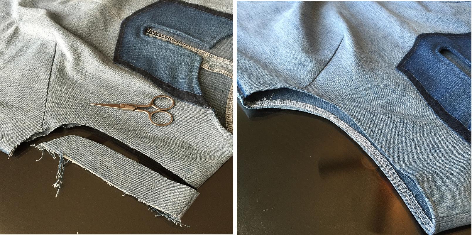 Como hacer blusas modelo túnica con jeans reciclados ¡Perfecta para el verano!12