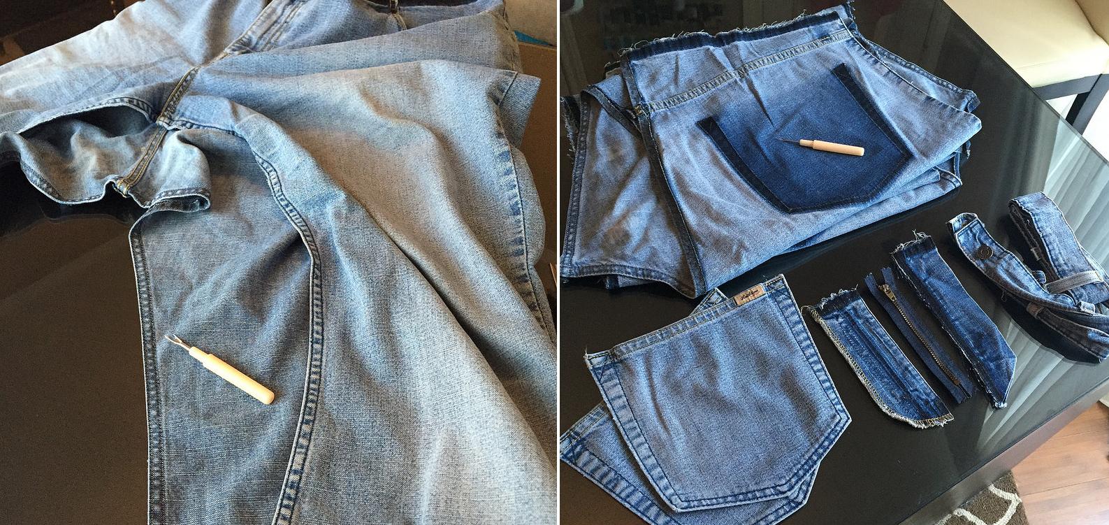 Como hacer blusas modelo túnica con jeans reciclados ¡Perfecta para el verano!3