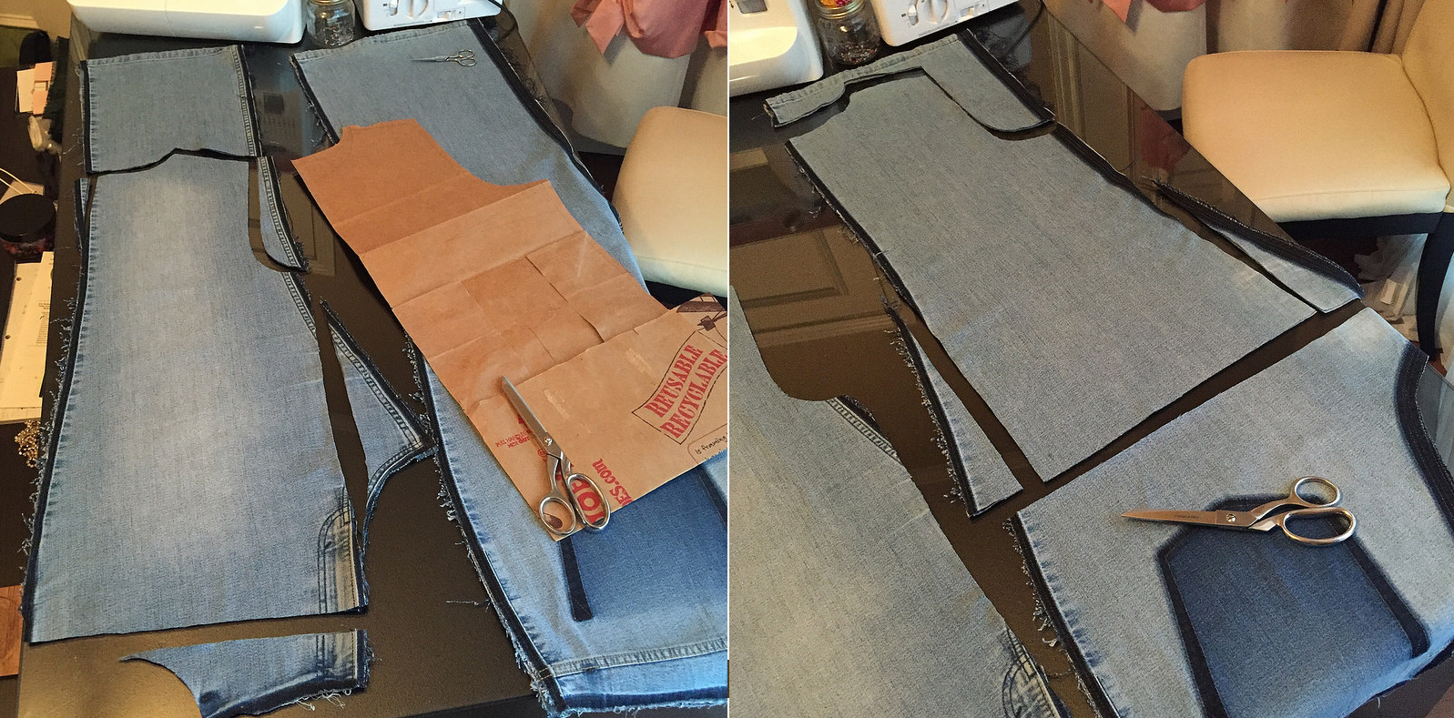 Como hacer blusas modelo túnica con jeans reciclados ¡Perfecta para el verano!4