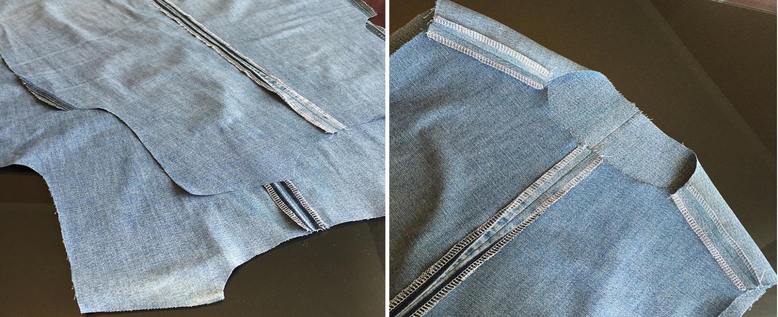 Como hacer blusas modelo túnica con jeans reciclados ¡Perfecta para el verano!5