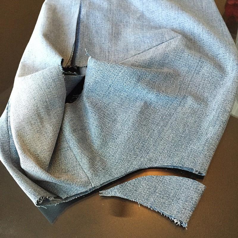 Como hacer blusas modelo túnica con jeans reciclados ¡Perfecta para el verano!7